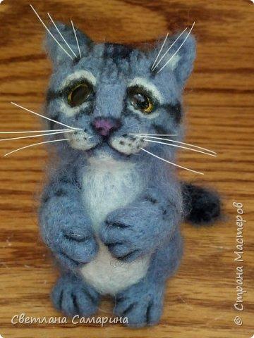 Здравствуйте, все!  Вот еще один котейка. Сделала в подарок коллеге на 8 марта. фото 2