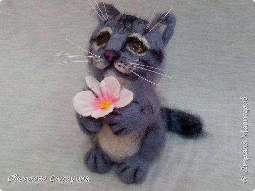 Здравствуйте, все!  Вот еще один котейка. Сделала в подарок коллеге на 8 марта. фото 1