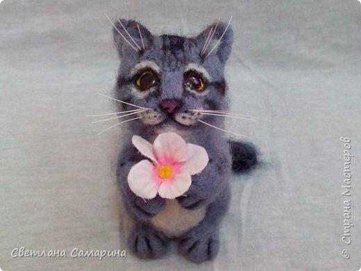 Здравствуйте, все!  Вот еще один котейка. Сделала в подарок коллеге на 8 марта. фото 4