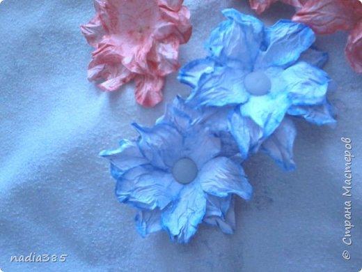Всем привет!!! Хочу показать какие красивые цветочки у меня получились. Делала вот по этому мастер классу  http://stranamasterov.ru/node/321021  Рада всем кто заглянул, всем спасибо! фото 1