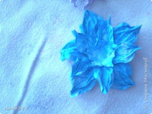 Всем привет!!! Хочу показать какие красивые цветочки у меня получились. Делала вот по этому мастер классу  http://stranamasterov.ru/node/321021  Рада всем кто заглянул, всем спасибо! фото 3