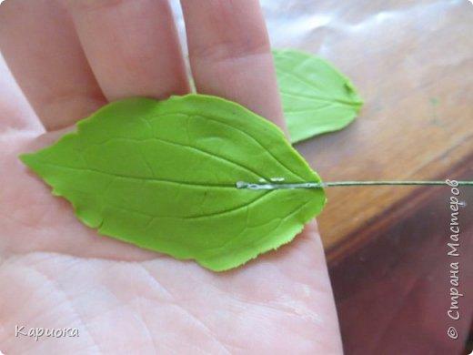 Здравствуйте жители СМ!  Недавно лепила жасмин из хф - и просто влюбилась в этот цветок! Вот что получилось. Решила сфоткать процесс создания цветочка - вдруг кому-то пригодится. фото 25