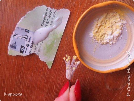 Здравствуйте жители СМ!  Недавно лепила жасмин из хф - и просто влюбилась в этот цветок! Вот что получилось. Решила сфоткать процесс создания цветочка - вдруг кому-то пригодится. фото 8