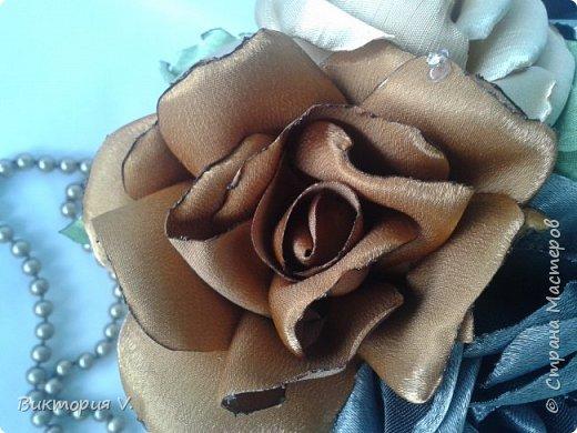 """Розы из атласа """"Летнее настроение"""" фото 7"""