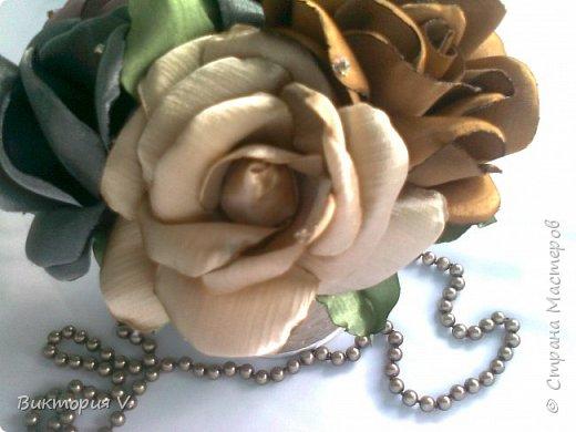 """Розы из атласа """"Летнее настроение"""" фото 5"""