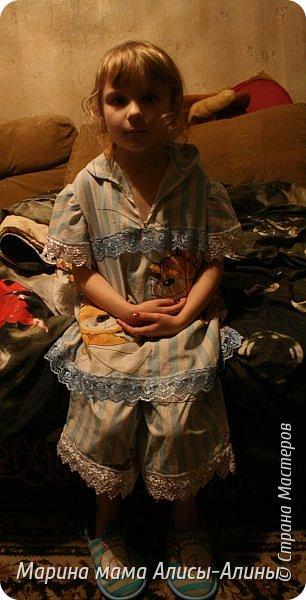 Сшила для младшей доченьки  лёгкую пижамку. Кофточка. фото 4
