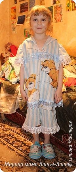 Сшила для младшей доченьки  лёгкую пижамку. Кофточка. фото 5