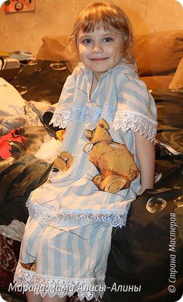 Сшила для младшей доченьки  лёгкую пижамку. Кофточка. фото 6