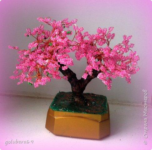 Ещё одно деревце из бисера мы сделали с ребятами в подарок педагогу. фото 1