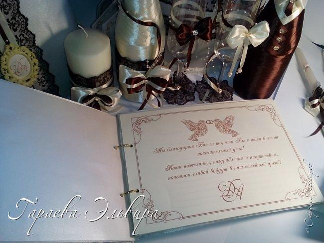 """Доброго ВСЕМ ВСЕМ денечка!!! Вот... наконец таки и до меня добралась волна свадебных заказов... Очень благодарна заказчику за такой заказ... было жутко интересно.. Началось все с золотой гаммы)) а закончилось гаммой """"Молоко и Шоколад""""... Пара интересная и очаровательная!!!.... фото 12"""