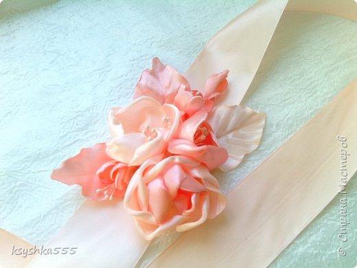 Пояс для свадебного платья фото 4