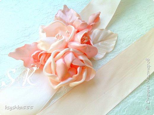 Пояс для свадебного платья фото 1