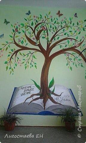 """Такое дерево познаний """"выросло"""" у нас в начальной школе. Оно украшает наш просторный коридор. Писала его 3 дня. Детям  и родителям понравилось."""