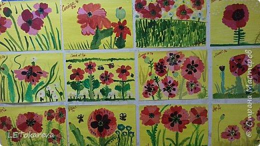 Здравствуйте!  Мы со старшими дошкольниками нарисовали маки. Меня вдохновила на эту работу с детьми Залия Кутдусова  http://stranamasterov.ru/user/230561. Спасибо Вам! фото 1