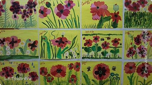 Здравствуйте!  Мы со старшими дошкольниками нарисовали маки. Меня вдохновила на эту работу с детьми Залия Кутдусова  http://stranamasterov.ru/user/230561. Спасибо Вам! фото 4