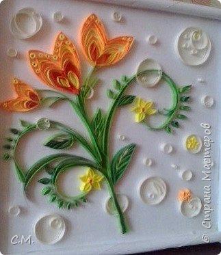 Цветы являются украшением нашей жизни, вызывают чувства -нежности ,восхищения, радости  в наших душах. Эти цветочные композиции (картины) -это маленький оазис весны и лета в каждом доме, и частичка тепла и позитива в наших сердцах.  Все работы выполнены в технике квиллинг.  фото 7