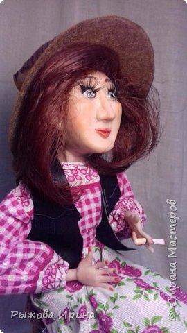Моя первая кукла в технике лепки из запекаемой глины. На данной модели я использовала Фимо. Тело бескаркасное, текстильное, набивное.Моя Джина, подруга ковбоя. В данной технике я работаю совсем мало, около года. Понимаю, что нужно многому учиться, но все таки очень хочу показать, что получилось.  фото 2