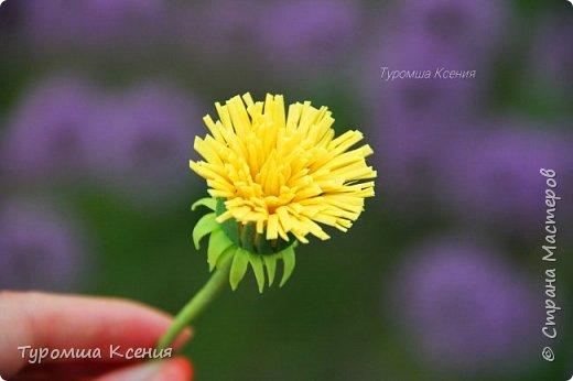 Одуванчики - самые долговечные весенние цветы, а дети всё по-прежнему плетут из них венки! Но этот одуванчик особенный, он не завянет и не будет белым пушистым зонтиком! Потому что он сделан с любовью! фото 1