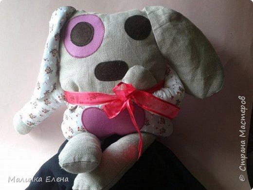 """Вот такая зайка у меня получилась))) Шила для племяшки, она сразу назвала её """"Любимчик"""" фото 3"""