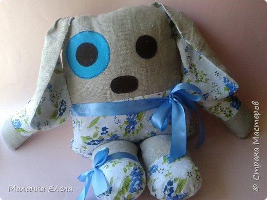 """Вот такая зайка у меня получилась))) Шила для племяшки, она сразу назвала её """"Любимчик"""" фото 2"""