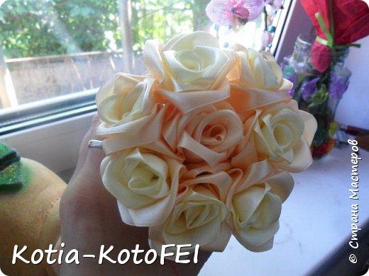Букет невесты из лент фото 5
