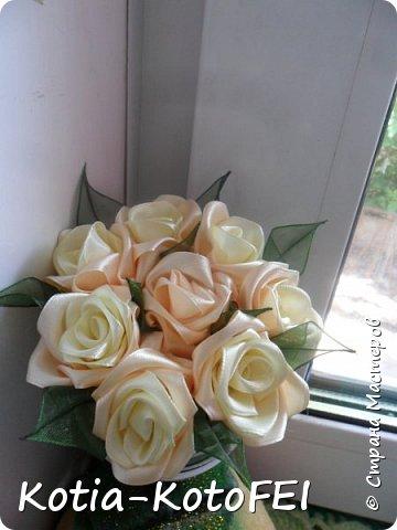 Букет невесты из лент фото 6