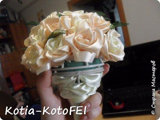 Букет невесты из лент фото 7