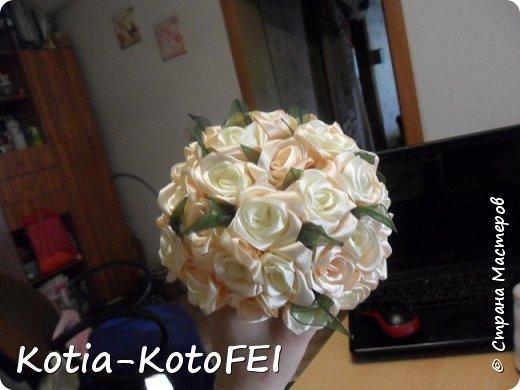Букет невесты из лент фото 8