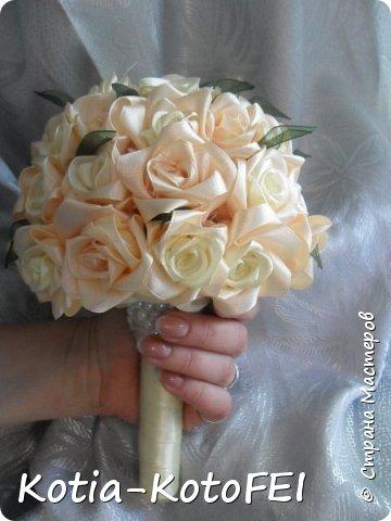 Букет невесты из лент фото 11