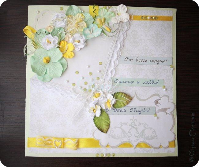 Для свадьбы в зеленых тонах. Белые цветочки и тычинки делала сама. фото 1