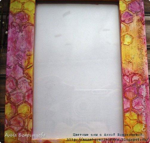 Всем привет!!!!! Сегодня рамочка для фото 10*15 см. Цвет фуксия и желтый.  фото 2