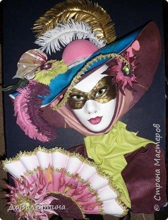 Дорогие друзья, продолжаю Мастер-класс по картине «Венецианский карнавал-2». фото 2