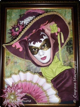 Дорогие друзья, продолжаю Мастер-класс по картине «Венецианский карнавал-2». фото 21