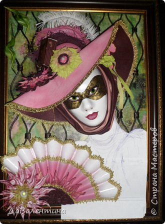 Дорогие друзья, продолжаю Мастер-класс по картине «Венецианский карнавал-2». фото 30