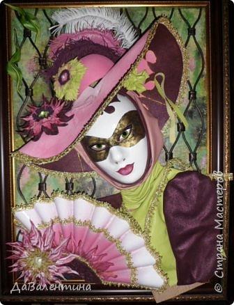 Дорогие друзья, продолжаю Мастер-класс по картине «Венецианский карнавал-2». фото 36