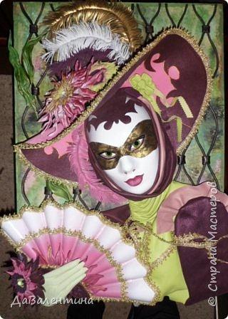 Дорогие друзья, продолжаю Мастер-класс по картине «Венецианский карнавал-2». фото 37