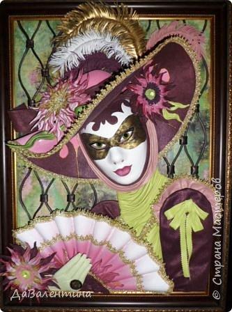 Дорогие друзья, продолжаю Мастер-класс по картине «Венецианский карнавал-2». фото 39