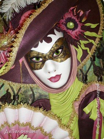 Дорогие друзья, продолжаю Мастер-класс по картине «Венецианский карнавал-2». фото 1