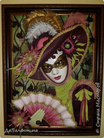 Дорогие друзья, продолжаю Мастер-класс по картине «Венецианский карнавал-2». фото 44
