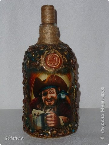 Декор бутылок фото 4