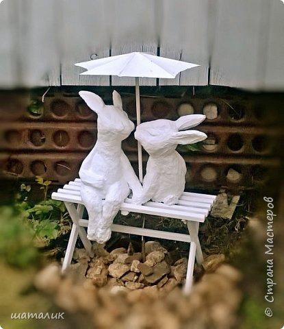 Вот такую скульптуру в свой сад я соорудила! Была поставлена задача использовать материал, который не боится плохих погодных условий. Замучив всех различными вопросами и перешерстив инет, решила остановиться на смеси цемента с песком фото 1