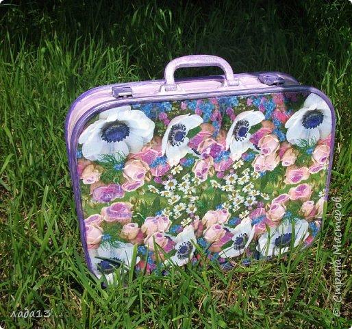 """Девочки наберитесь терпения,очень нравится мне чемоданчик,поэтому фоток  много.К сожалению до переделки не сфотографировала-был просто коричневый"""" мальчуковый"""". фото 1"""