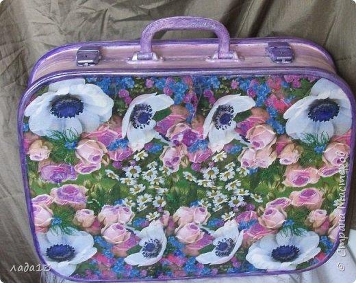 """Девочки наберитесь терпения,очень нравится мне чемоданчик,поэтому фоток  много.К сожалению до переделки не сфотографировала-был просто коричневый"""" мальчуковый"""". фото 5"""