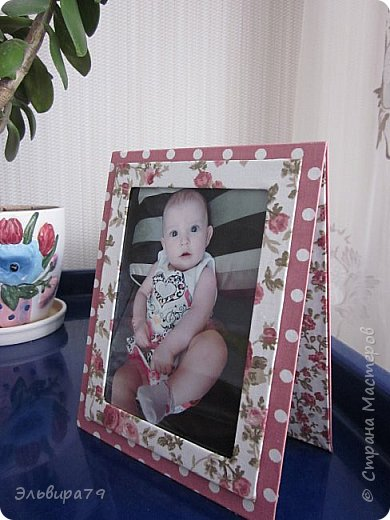 Текстильная рамочка для фото фото 2