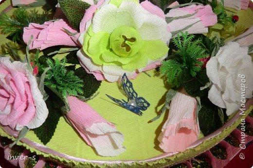 """Вот такой """"торт"""" сегодня получила в подарок на День рождения моя сестра. """"Тортик"""" с сюрпризом: в нём спрятаны не только конфетки, но и сам подарок.  Общий вид ... фото 5"""