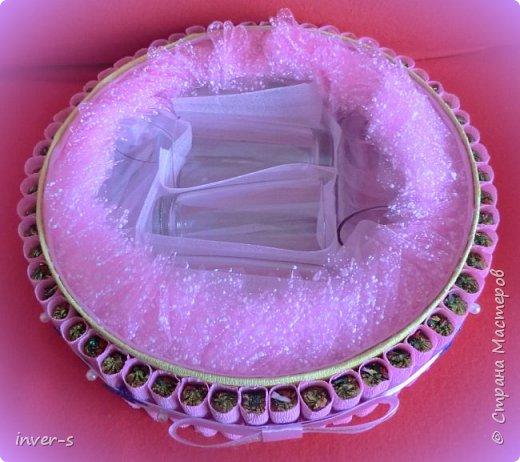 """Вот такой """"торт"""" сегодня получила в подарок на День рождения моя сестра. """"Тортик"""" с сюрпризом: в нём спрятаны не только конфетки, но и сам подарок.  Общий вид ... фото 8"""