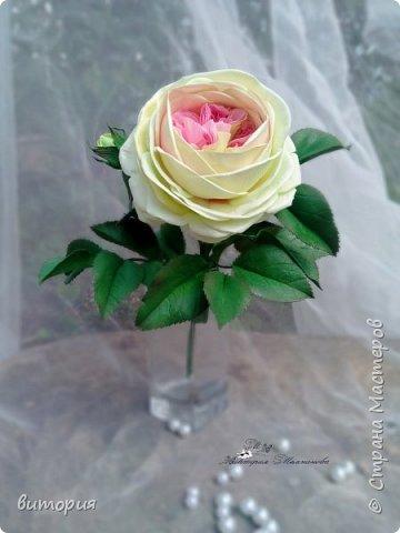 Пионовидная роза из иранского фоамирана. фото 4