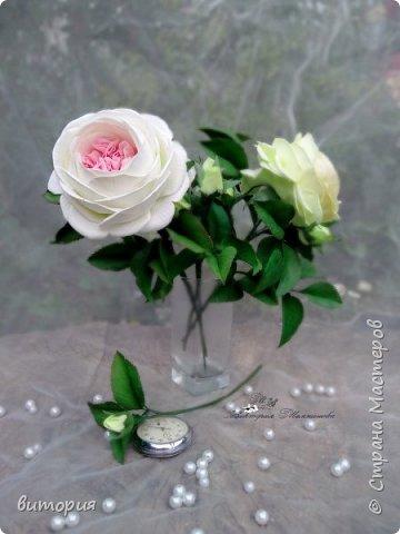 Пионовидная роза из иранского фоамирана. фото 1