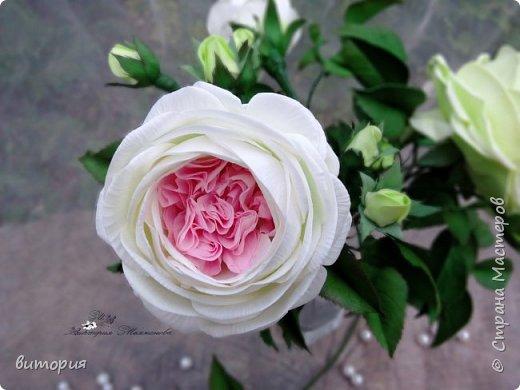 Пионовидная роза из иранского фоамирана. фото 2