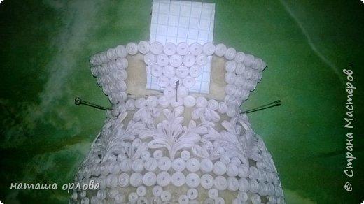 """Здравствуйте жители """" Страны мастеров"""".  Решила поделиться с вами своей новой работой. Работа эта моя первая попытка мастер-класса. В работе использовала бумажные полосы 2 мм(резала из обычной офисной бумаги); солёное тесто; каркас из пластиковой бутылочки подходящей по форме и размеру; клей ПВА.  фото 18"""